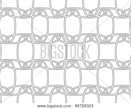 Slim Gray Horizontal Interlocking Ornament