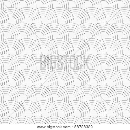 Slim Gray Offset Overlapping Circles
