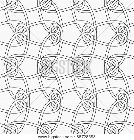 Slim Gray Vertical Interlocking Ornament