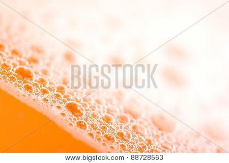 Orange Water Drops Close Up