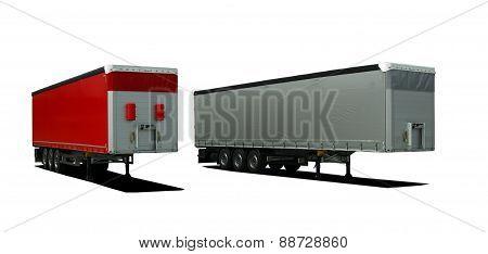 Truck semi trailers