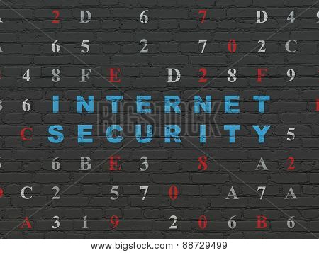 Privacy concept: Internet Security on wall background