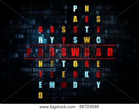 Safety concept: word Password in solving Crossword Puzzle