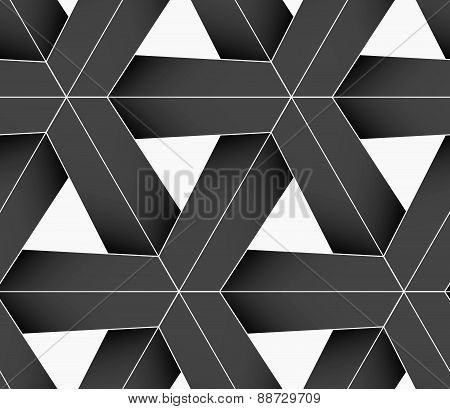 3D Colored Gray Triangular Grid