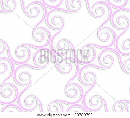 3D Colored Pink Spirals In Circle