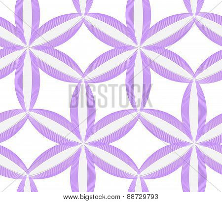 3D Colored Purple Geometrical Flower