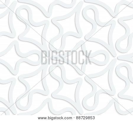 3D White Abstract Geometrical Clubs