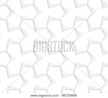 3D White Abstract Pointy Tetrapod Grid