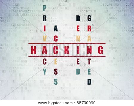 Privacy concept: word Hacking in solving Crossword Puzzle