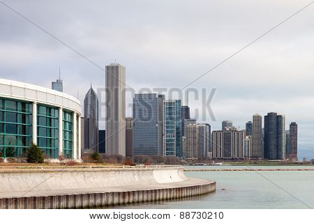 Chicago Skyline And Shedd Aquarium