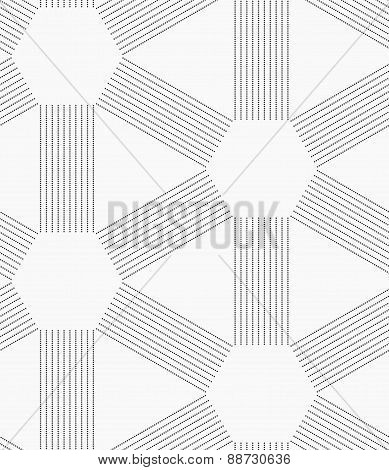 Gray Dotted Lines Forming Triangles And Hexagons