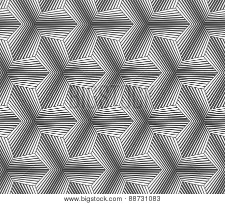 Monochrome Gradually Striped Pointy Tetrapods
