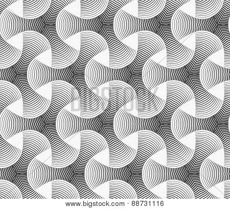 Monochrome Gradually Striped Tetrapods