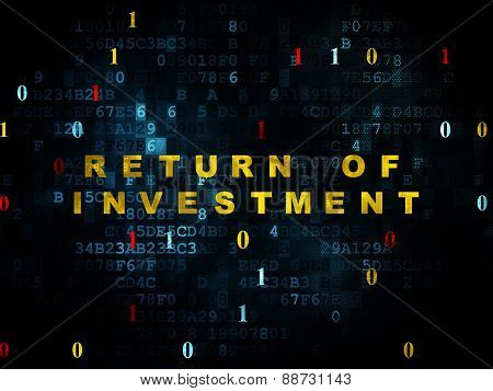 Business concept: Return of Investment on Digital background