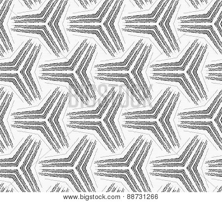 Monochrome Rough Striped Small Tetrapods