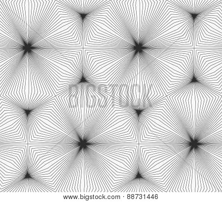 Slim Gray Continuously Stripes Hexagons