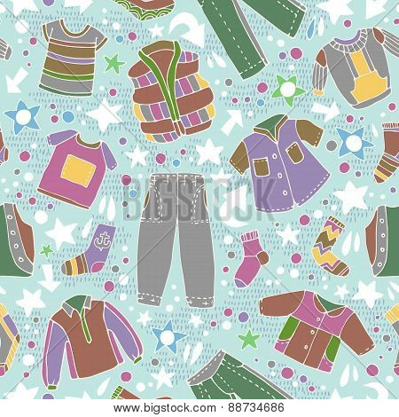 Vector fashionable beautiful clothes for little boys