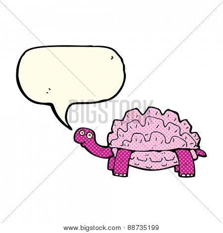 cartoon tortoise with speech bubble