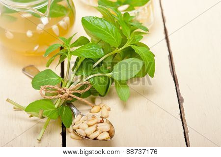 Arab Traditional Mint And Pine Nuts Tea