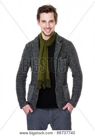 Caucasian handsome man