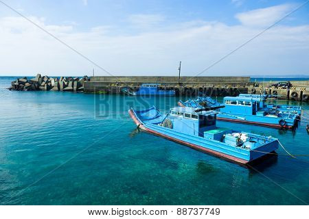 Boat Dock on shore
