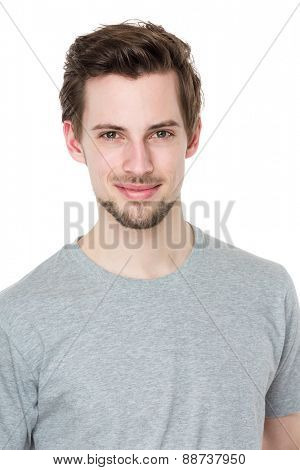 Smiling happy handsome man
