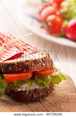 fresh delicious vegetarian sandwich