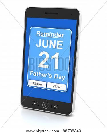 Generic mobile phone with reminder for 2015 Father's day