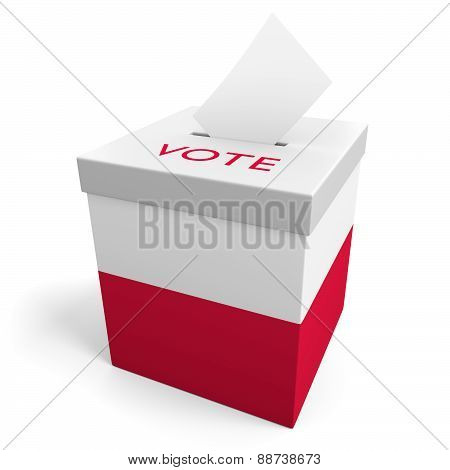 Poland election ballot box for collecting votes