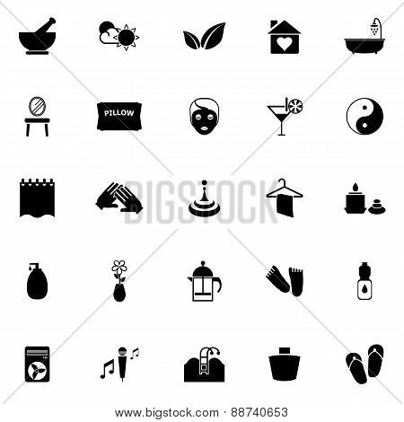 Massage Icons On White Background