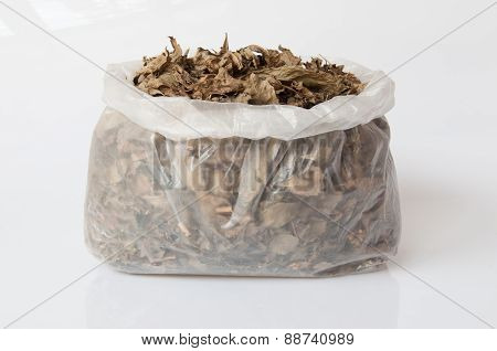 Aromatic Dried Leaves In Plastic Bag