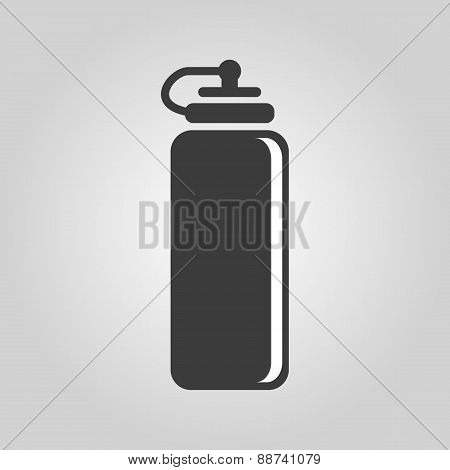 The Sports Water Bottle Icon. Bottle Symbol. Flat