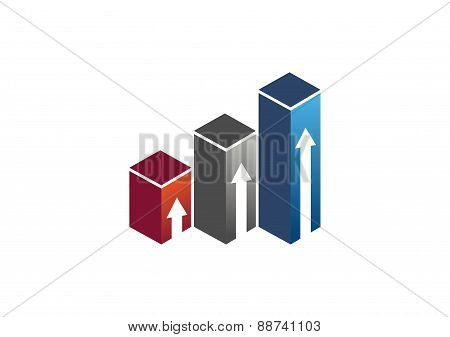 real estate logo,arrows,investment building house icon vector design