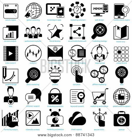 online marketing solution icons