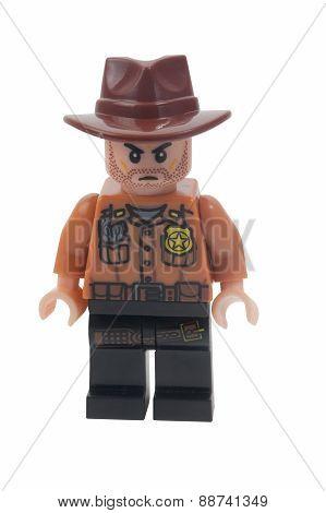 Rick Grimes Custom Lego Minifigure