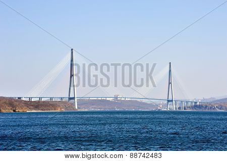 Cable Bridge To Russian Island
