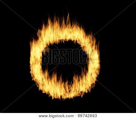 Ring circle of fire over black
