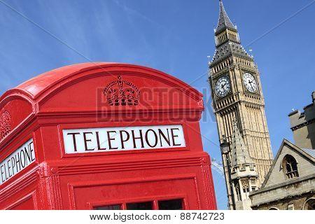 London Telephone Box Big Ben