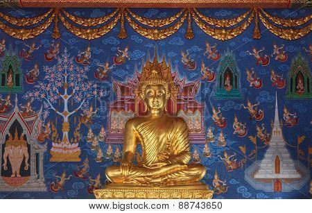 Statue Of Buddha In Wat Kaew Korawaram Temple