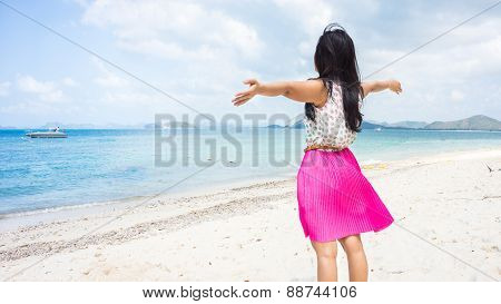 A Woman On The Beach