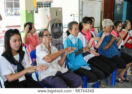 Children Singing With Elderly People In Thammapakorn Nursing Home