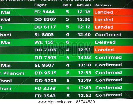 Thailand Domestic Flight Schedule