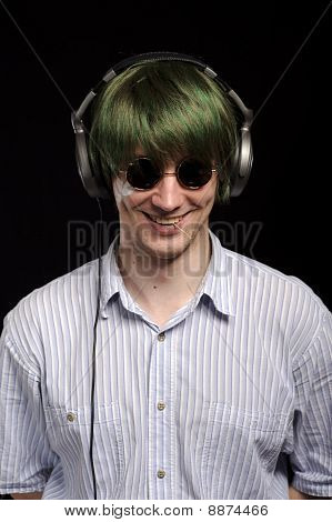 Handsome Guy Listen To Music