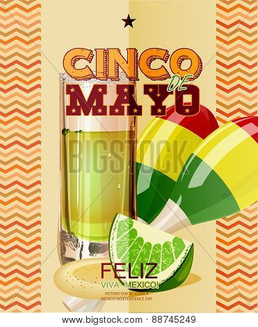 Cinco de Mayo. Text in Spanish.