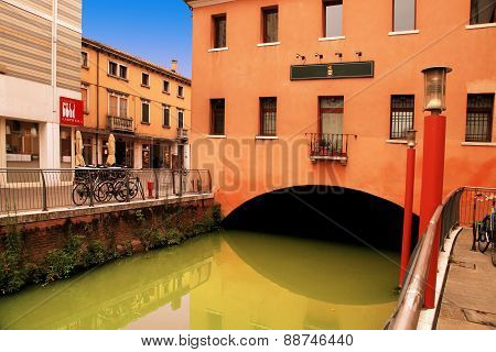 Venice, Mestre-june 29, 2014: Mestre On June 29, 2014.  Mestre Is The Most Populated Urban Area Of T