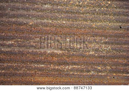 Galvanized steel sheet with rust for background