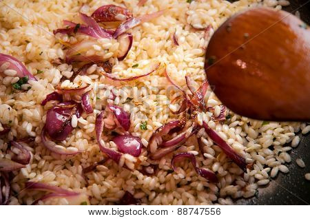Risotto With Red Onions