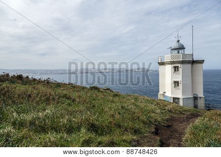 Mera Lighthouse In A Coruna, Galicia