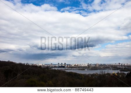 The Left Bank Of The Dnieper River In Kyiv
