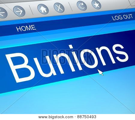 Bunions Concept.